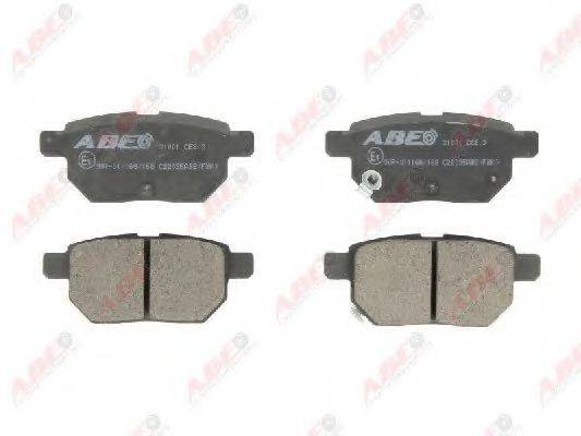Комплект тормозных колодок, дисковый тормоз ABE C22035ABE