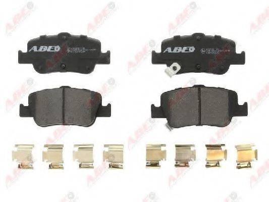 Комплект тормозных колодок, дисковый тормоз ABE C22036ABE