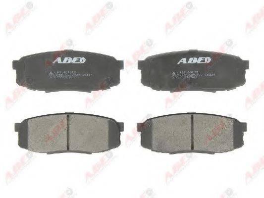 Комплект тормозных колодок, дисковый тормоз ABE C22039ABE