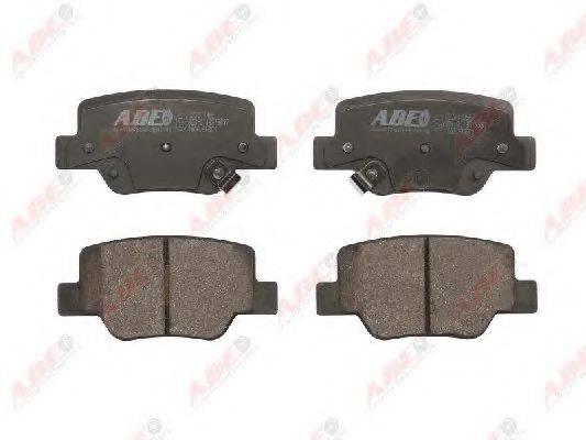 Комплект тормозных колодок, дисковый тормоз ABE C22041ABE
