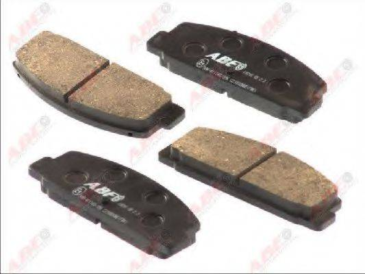 Комплект тормозных колодок, дисковый тормоз ABE C23002ABE
