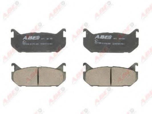 Комплект тормозных колодок, дисковый тормоз ABE C23007ABE