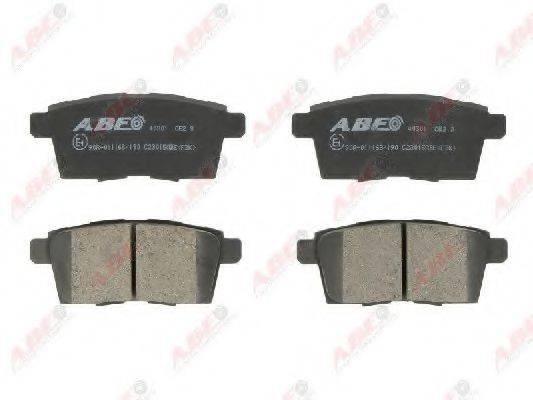 Комплект тормозных колодок, дисковый тормоз ABE C23015ABE