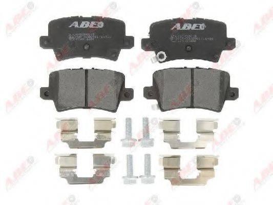 Комплект тормозных колодок, дисковый тормоз ABE C24014ABE