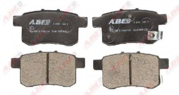 Комплект тормозных колодок, дисковый тормоз ABE C24017ABE