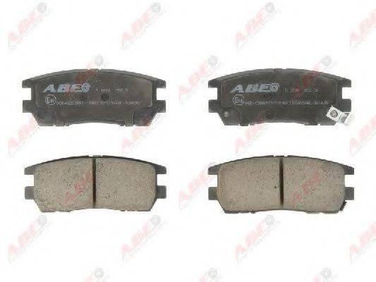 Комплект тормозных колодок, дисковый тормоз ABE C25005ABE