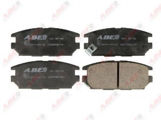 Комплект тормозных колодок, дисковый тормоз ABE C25007ABE