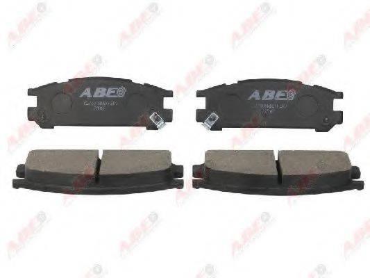 Комплект тормозных колодок, дисковый тормоз ABE C27001ABE