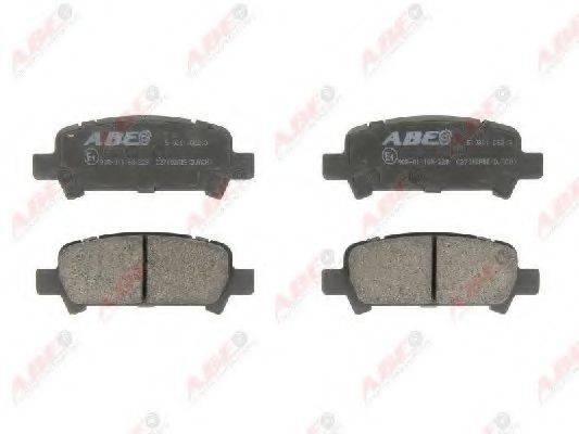 Комплект тормозных колодок, дисковый тормоз ABE C27002ABE