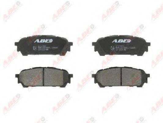 Комплект тормозных колодок, дисковый тормоз ABE C27003ABE