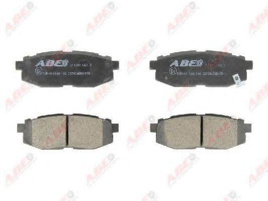 Комплект тормозных колодок, дисковый тормоз ABE C27004ABE