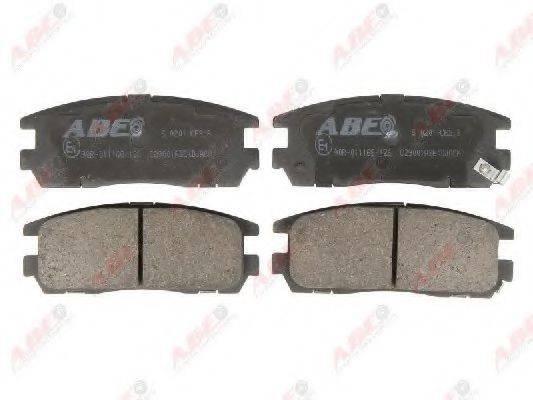 Комплект тормозных колодок, дисковый тормоз ABE C29001ABE