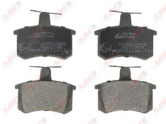 Комплект тормозных колодок, дисковый тормоз ABE C2A001ABE