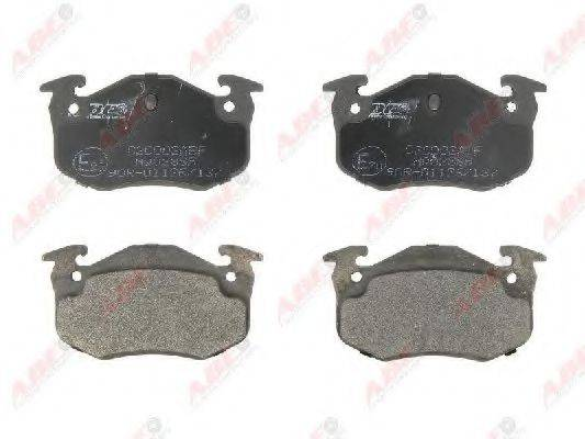 Комплект тормозных колодок, дисковый тормоз ABE C2C002ABE
