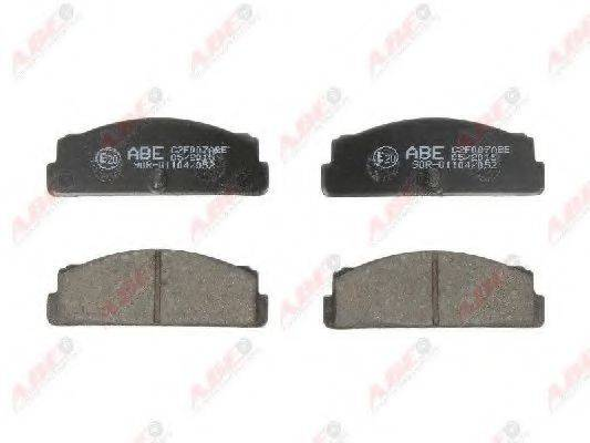 Комплект тормозных колодок, дисковый тормоз ABE C2F007ABE