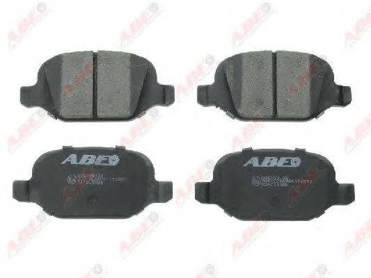 Комплект тормозных колодок, дисковый тормоз ABE C2F015ABE