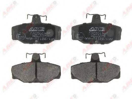 Комплект тормозных колодок, дисковый тормоз ABE C2G001ABE