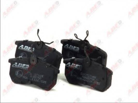 Комплект тормозных колодок, дисковый тормоз ABE C2G007ABE
