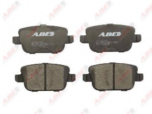 Комплект тормозных колодок, дисковый тормоз ABE C2I003ABE