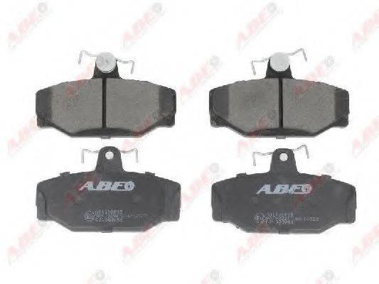 Комплект тормозных колодок, дисковый тормоз ABE C2V003ABE