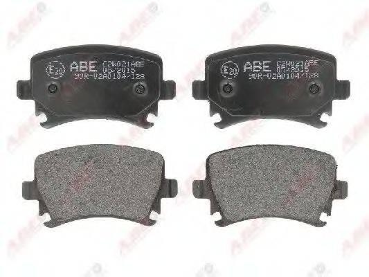 Комплект тормозных колодок, дисковый тормоз ABE C2W021ABE