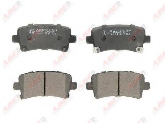Комплект тормозных колодок, дисковый тормоз ABE C2X015ABE
