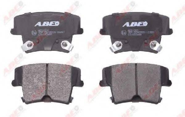 Комплект тормозных колодок, дисковый тормоз ABE C2Y020ABE