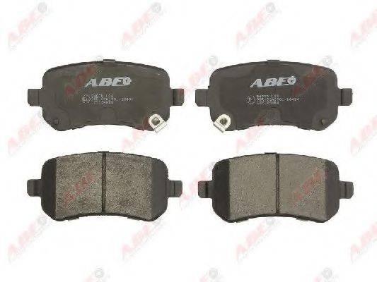 Комплект тормозных колодок, дисковый тормоз ABE C2Y024ABE