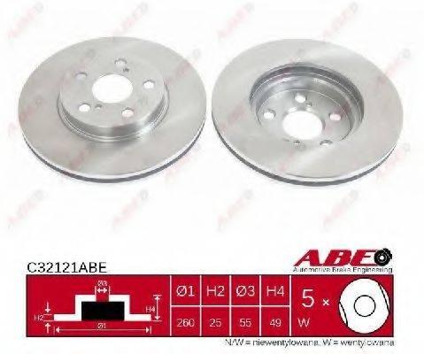 Тормозной диск ABE C32121ABE
