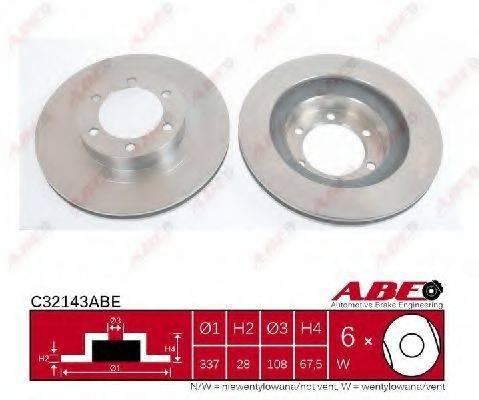 Тормозной диск ABE C32143ABE