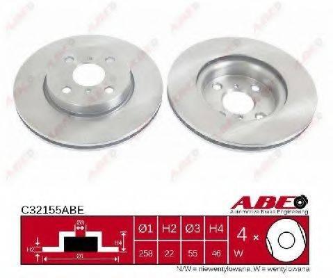 Тормозной диск ABE C32155ABE