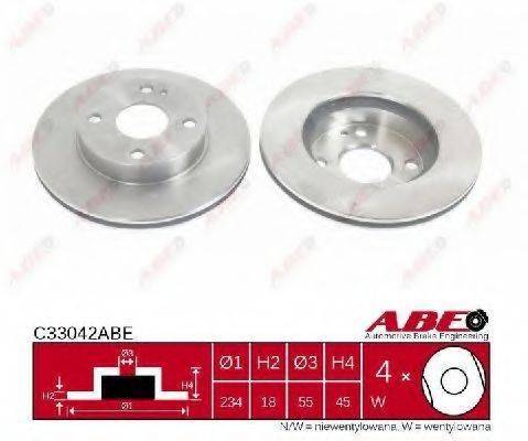 Тормозной диск ABE C33042ABE