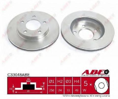 Тормозной диск ABE C33048ABE