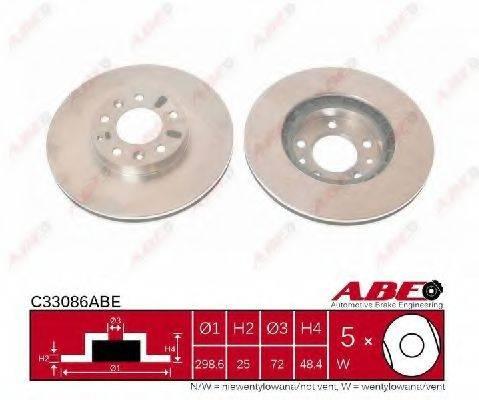 Тормозной диск ABE C33086ABE
