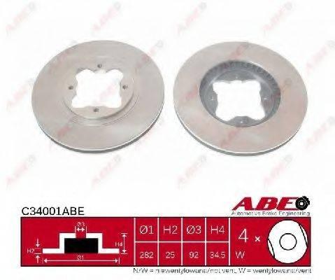 Тормозной диск ABE C34001ABE
