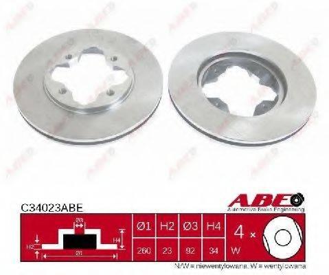 Тормозной диск ABE C34023ABE