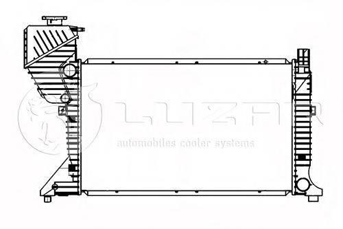 Радиатор, охлаждение двигателя LUZAR LRc 1550