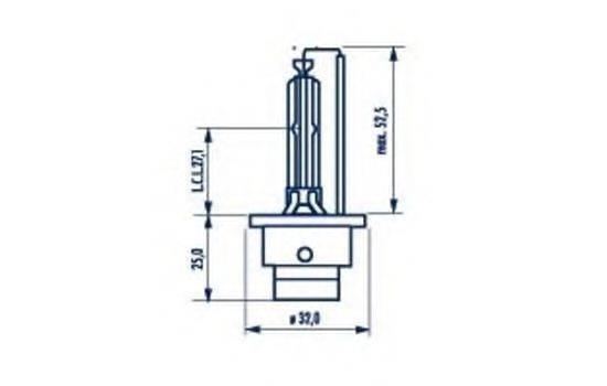 Лампа накаливания, фара дальнего света; Лампа накаливания, основная фара; Лампа накаливания, основная фара; Лампа накаливания, фара дальнего света NARVA 84002