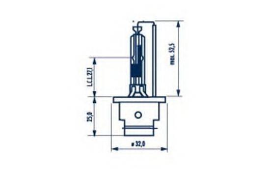 Лампа накаливания, фара дальнего света; Лампа накаливания, основная фара; Лампа накаливания, основная фара; Лампа накаливания, фара дальнего света NARVA 84006