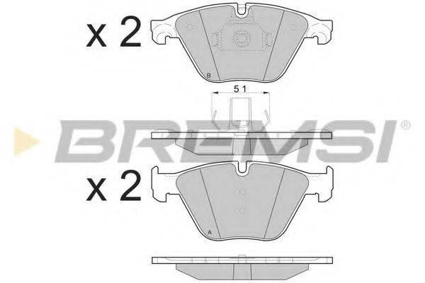 Комплект тормозных колодок, дисковый тормоз BREMSI BP3500