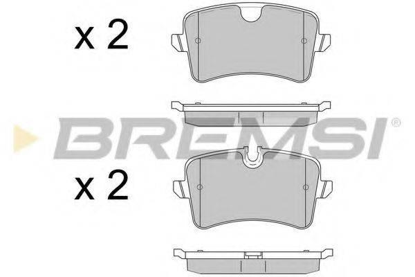 Комплект тормозных колодок, дисковый тормоз BREMSI BP3502