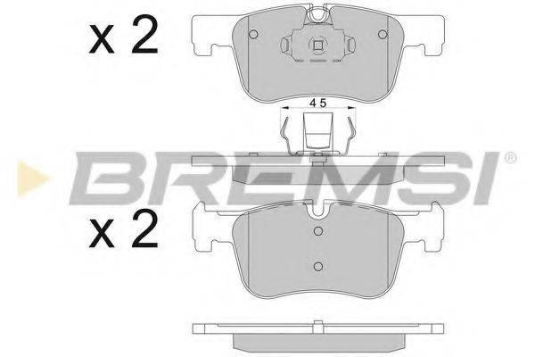 Комплект тормозных колодок, дисковый тормоз BREMSI BP3503