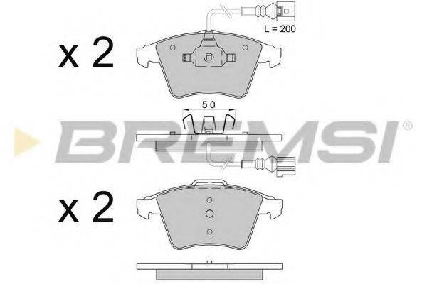 Комплект тормозных колодок, дисковый тормоз BREMSI BP3508