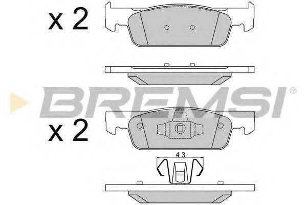Комплект тормозных колодок, дисковый тормоз BREMSI BP3512