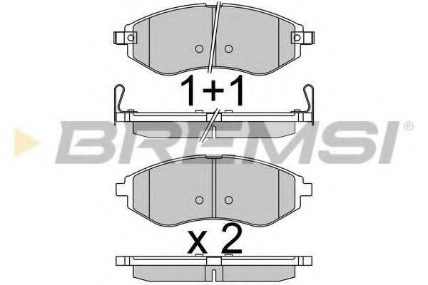Комплект тормозных колодок, дисковый тормоз BREMSI BP3514