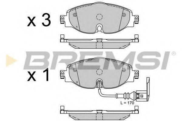 Комплект тормозных колодок, дисковый тормоз BREMSI BP3516