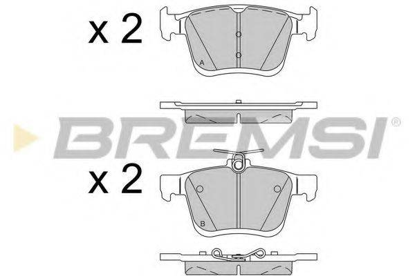 Комплект тормозных колодок, дисковый тормоз BREMSI BP3518
