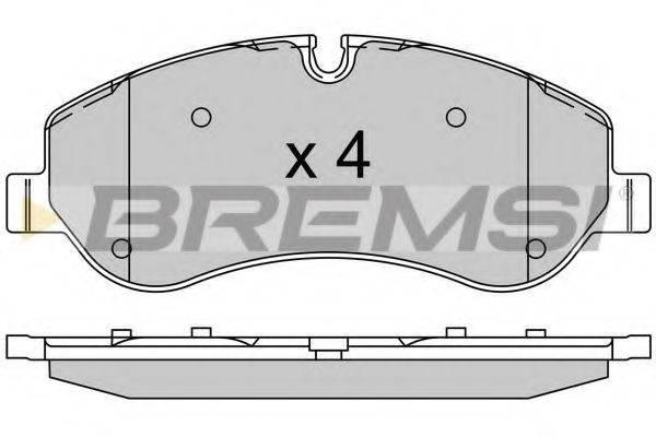 Комплект тормозных колодок, дисковый тормоз BREMSI BP3525