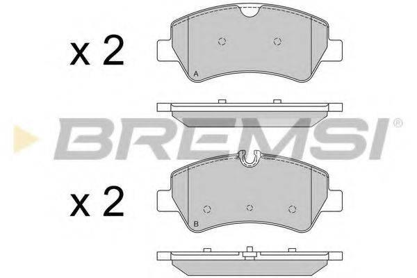 Комплект тормозных колодок, дисковый тормоз BREMSI BP3526