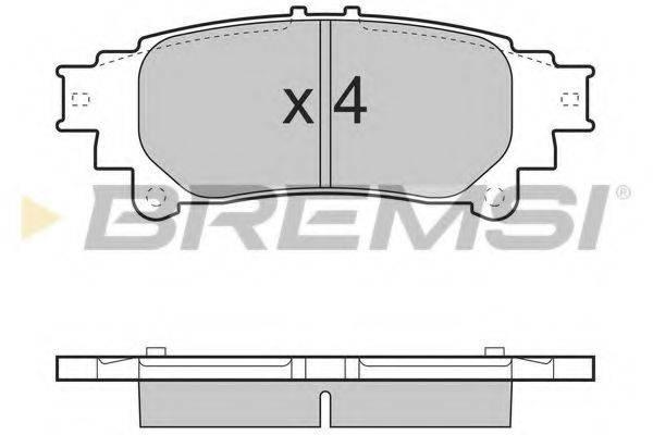 Комплект тормозных колодок, дисковый тормоз BREMSI BP3534